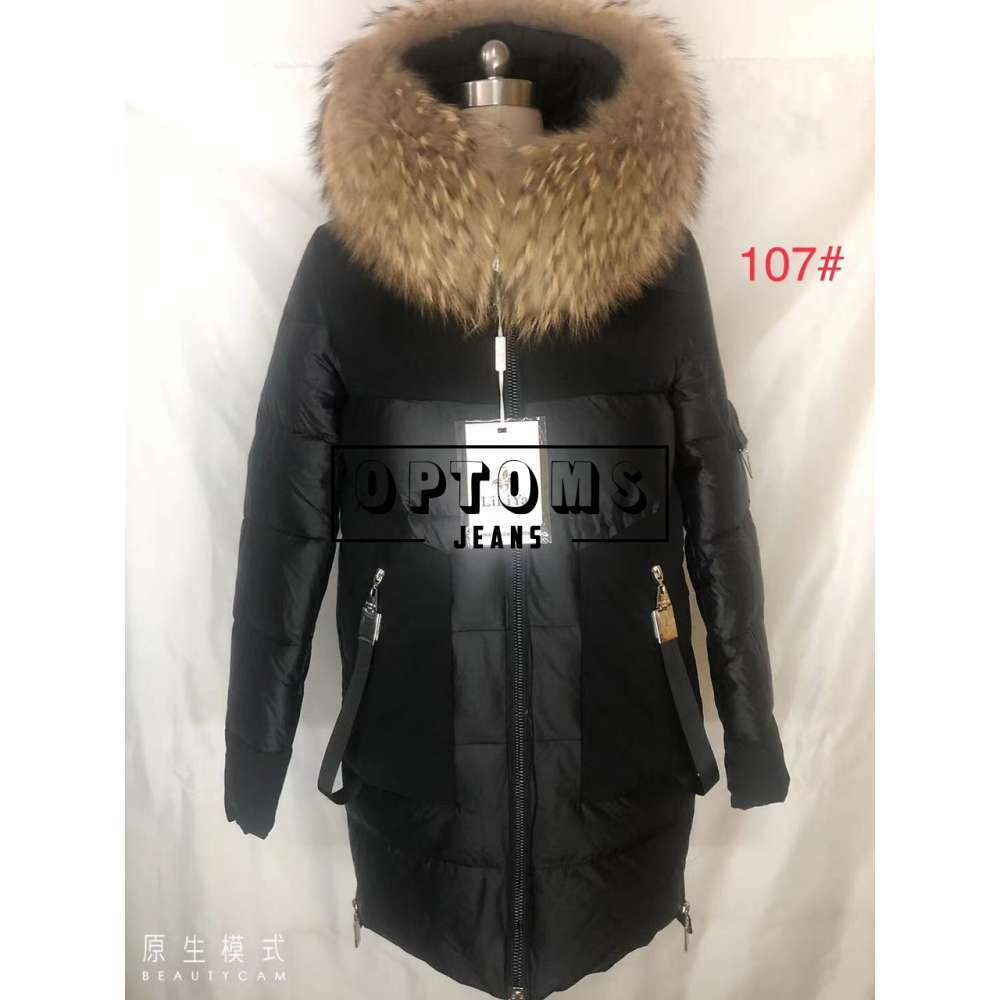 Куртка женская холлофайбер натуральный мех 107 размер S-2XL фото