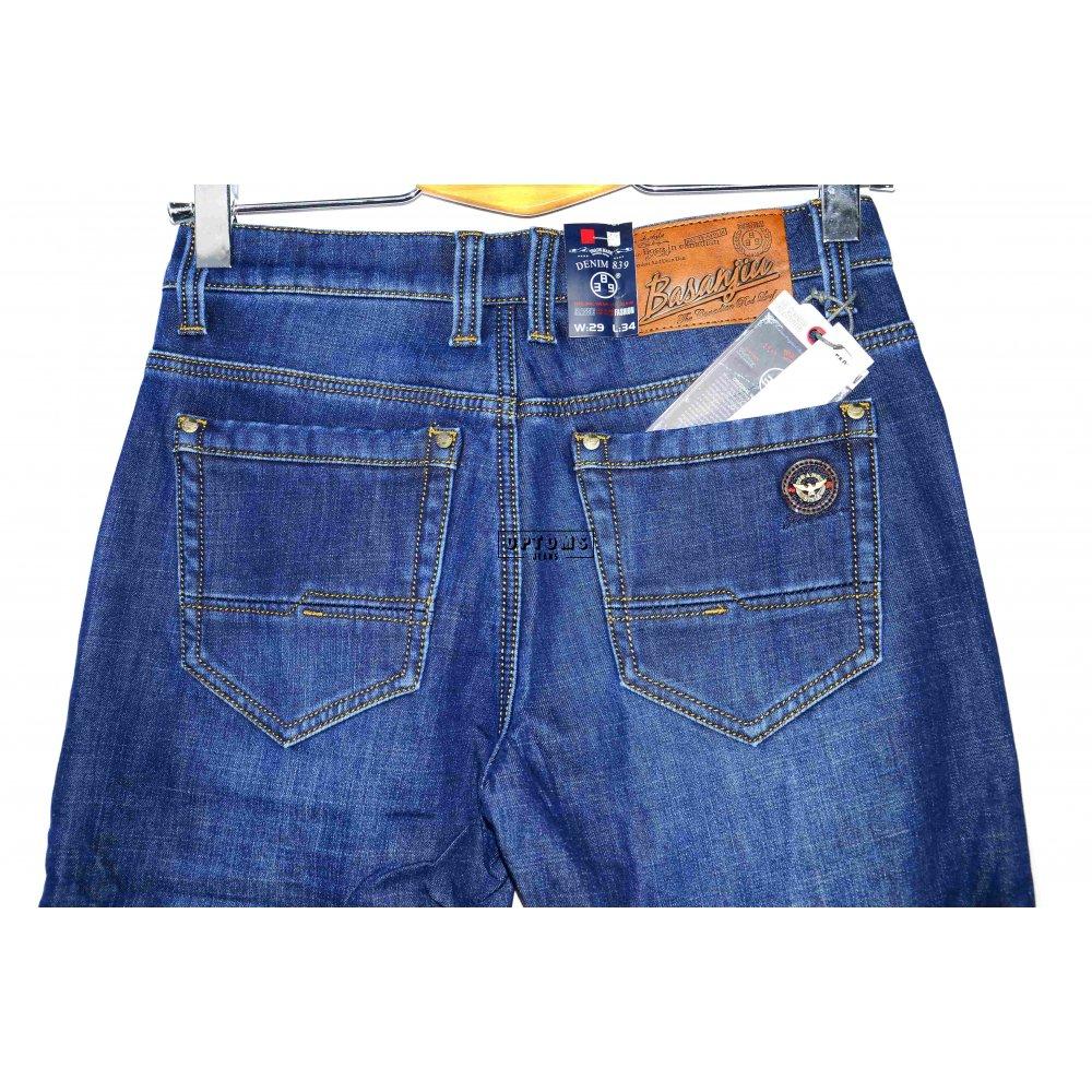 Мужские джинсы на флисе Basanjiu 123-1 29-38/8шт фото