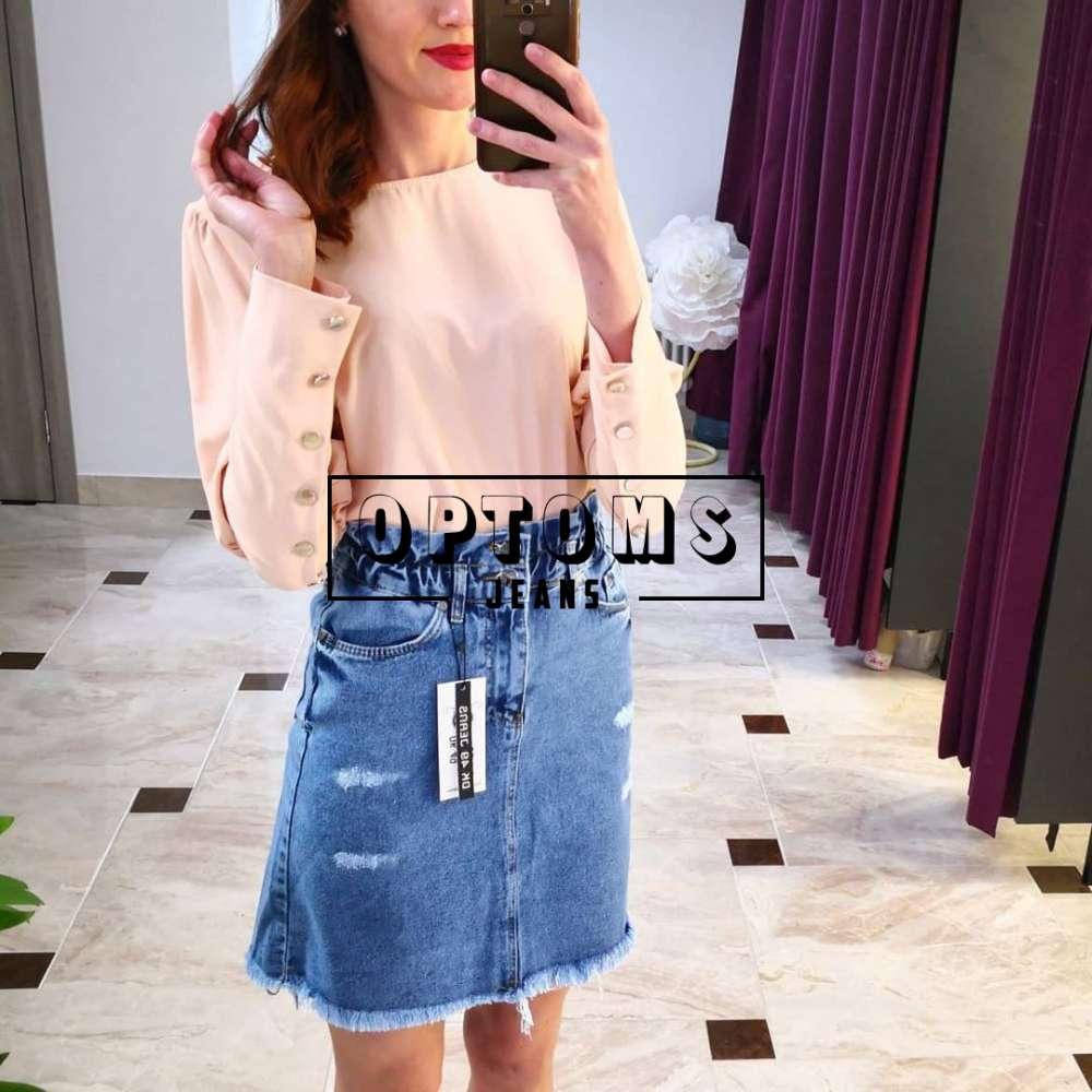 Женская джинсовая юбка DK49 1313 26-31/6шт фото