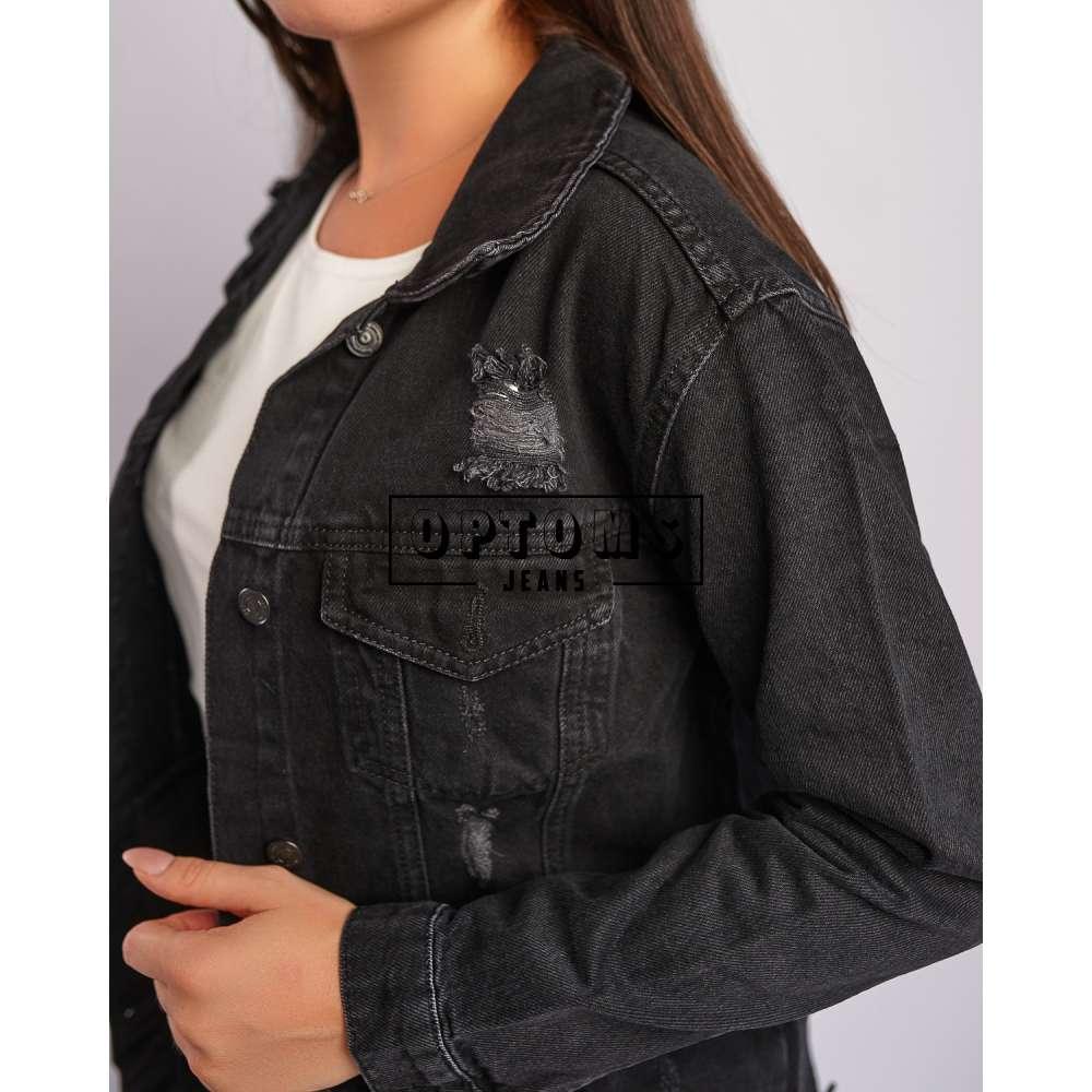 Женская джинсовая куртка ОВЕРСАЙЗ серая LD 1820 S-XL/4шт фото