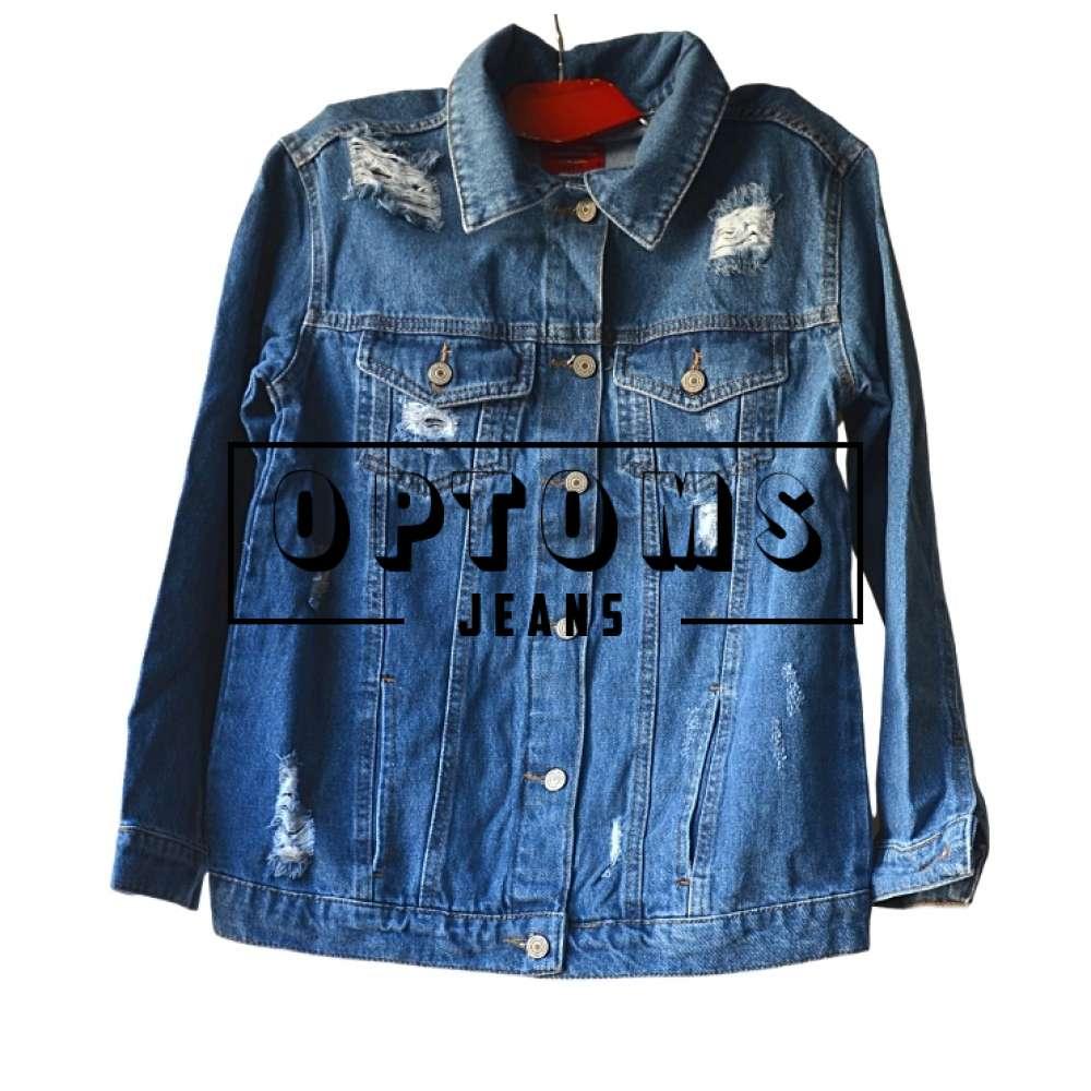 Женская джинсовая куртка ОВЕРСАЙЗ синяя LD 1820 S-XL/4шт фото
