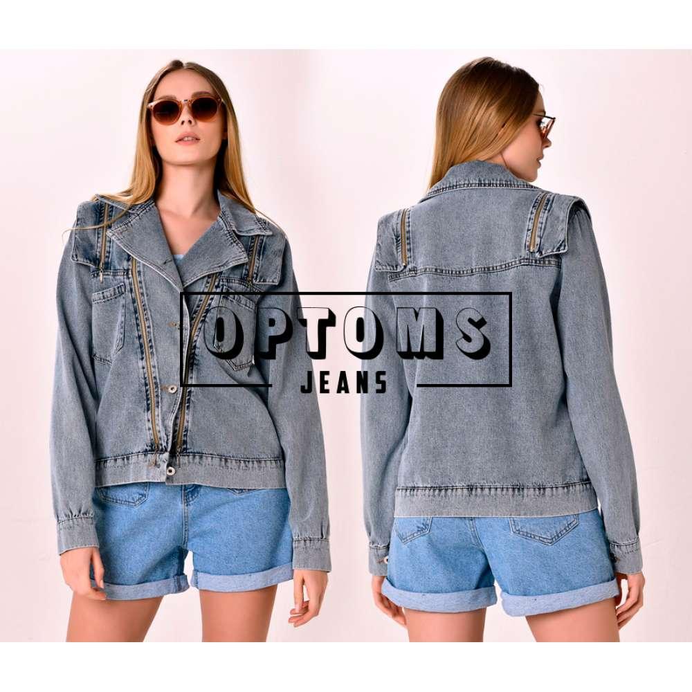 Женская джинсовая куртка на змейке VT 2027 S-L/5шт фото