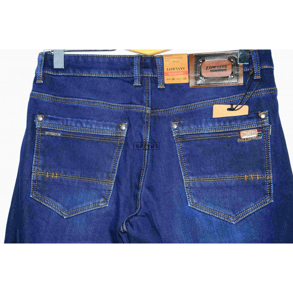 Мужские джинсы на флисе Lowvays 0011D 34-44/8шт фото