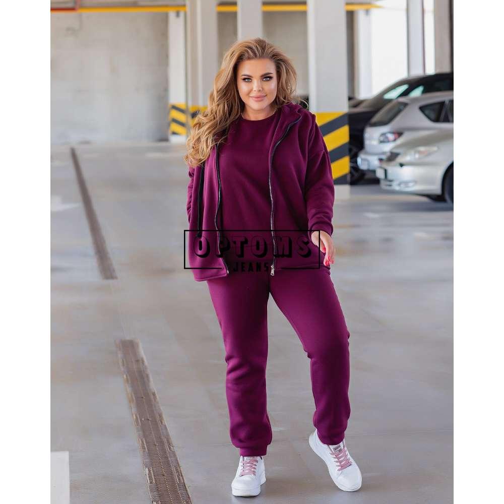 Женский спортивный костюм на флисе тройка 50-56-4ед 269-3 фото